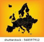 detailed europe vector map on...   Shutterstock .eps vector #568597912