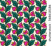 simple floral pattern in... | Shutterstock .eps vector #568618186