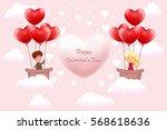 invitation card valentine's day ... | Shutterstock .eps vector #568618636