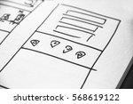 web layout sketch paper book ... | Shutterstock . vector #568619122