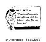 dad says   retro spokesman  ... | Shutterstock .eps vector #56862088
