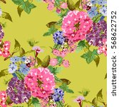 elegant seamless pattern with... | Shutterstock .eps vector #568622752