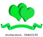 card with hearts and decoration ... | Shutterstock . vector #56863150