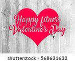 fitness valentine's day... | Shutterstock . vector #568631632