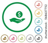 dollar earnings flat color... | Shutterstock .eps vector #568637752