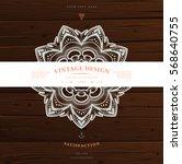 vintage frame for luxury logos  ... | Shutterstock .eps vector #568640755