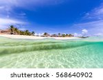 meads bay  anguilla beach | Shutterstock . vector #568640902