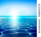 vector sea water blue... | Shutterstock .eps vector #568642276