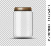 glass jar for canning and... | Shutterstock .eps vector #568642546