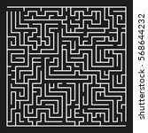 big vector maze on black... | Shutterstock .eps vector #568644232