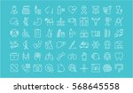 set vector line icons  sign in... | Shutterstock .eps vector #568645558