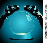 illustration of a fortune... | Shutterstock .eps vector #568645906
