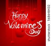 valentine's day english... | Shutterstock .eps vector #568648432