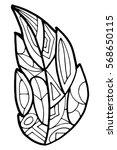zenart zentagle leaves vector | Shutterstock .eps vector #568650115