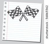 scribble checkered flags | Shutterstock .eps vector #56865562