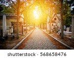 cemetery in paris in autumn at...   Shutterstock . vector #568658476