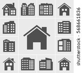 Building Icons Vector...