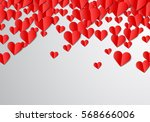 valentines day card with... | Shutterstock .eps vector #568666006