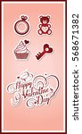 valentine's day card with...   Shutterstock .eps vector #568671382