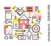 real estate concept. realty...   Shutterstock .eps vector #568681486