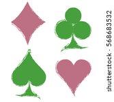 vector set of grunge graphic... | Shutterstock .eps vector #568683532