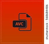 avc simple flat button. black...