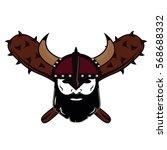 emblem viking warrior skull logo   Shutterstock .eps vector #568688332
