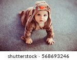 Stock photo lovely and very cute baby dressed deer 568693246