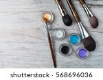 collection of make up products  ... | Shutterstock . vector #568696036