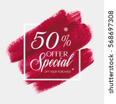 sale special offer 50  off sign ... | Shutterstock .eps vector #568697308