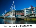 cardiff  uk   january 2  2013.... | Shutterstock . vector #568706278
