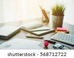 business document in office... | Shutterstock . vector #568712722