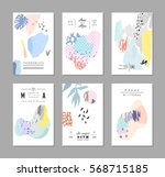 set of creative universal art... | Shutterstock .eps vector #568715185