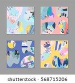 set of creative universal art... | Shutterstock .eps vector #568715206