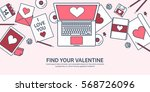 love and heart. lined vector... | Shutterstock .eps vector #568726096