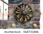 detail of beautiful old wall... | Shutterstock . vector #568731886