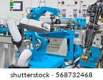 human robot control automatic... | Shutterstock . vector #568732468