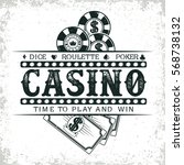 vintage casino logo design  ... | Shutterstock .eps vector #568738132