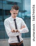 smart businessman manager... | Shutterstock . vector #568744456