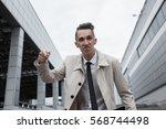 Angry Businessman Pointing His...