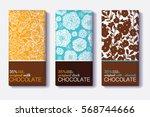 vector set of chocolate bar... | Shutterstock .eps vector #568744666
