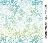 Vector Blue Freen Seaweed...