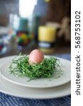 Easter Table Setting With A...