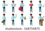 businessman holding pointer...   Shutterstock .eps vector #568754875