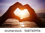 love on the beach  | Shutterstock . vector #568760956