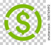 dollar diagram icon. vector... | Shutterstock .eps vector #568765492