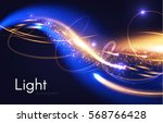 abstract motion light effect.... | Shutterstock .eps vector #568766428