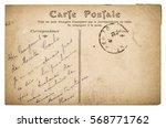 vintage handwritten postcard... | Shutterstock . vector #568771762