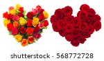 bouquet of roses flowers in... | Shutterstock . vector #568772728