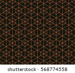 seamless black and orange... | Shutterstock .eps vector #568774558